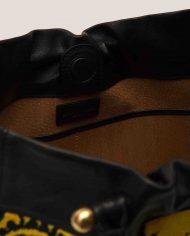 ALIMA-Nina-tote-bag-black-leather-and-vintage-fabric-interior