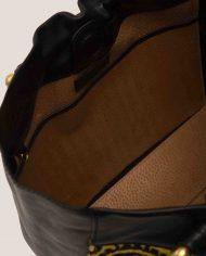 ALIMA-Nina-tote-bag-black-leather-and-vintage-fabric-interior-detail