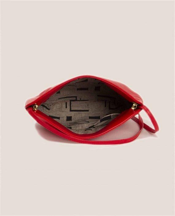 Cross Body Bag, Debbie Red (ref #DPR-30) Petty Things - interior