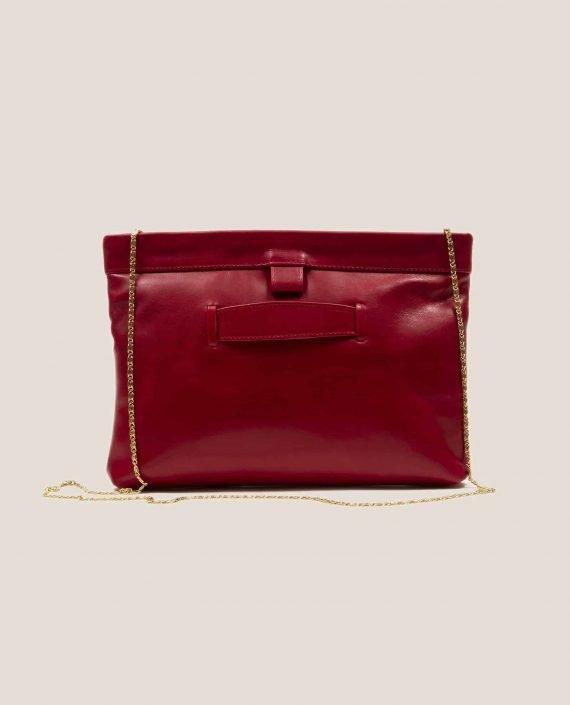 Parte atrás bolso de cuero rojo modelo Marlen (ref # MPR-39) de Petty Things
