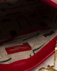 Petty Things (ref # MPR-39) – interior detail leather red bag