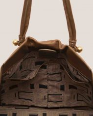 TAUPE-Nina-tote-bag-dark-brown-leather-Petty-Things-interior