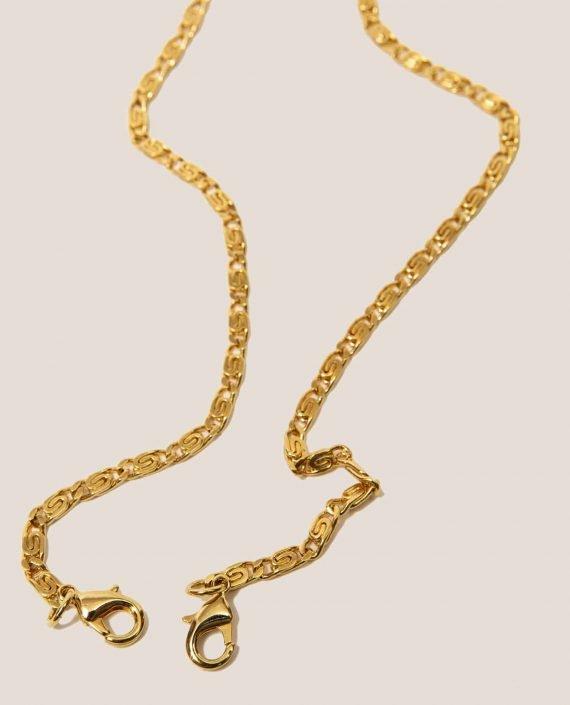 Elongated golden color chain marlen and doris models