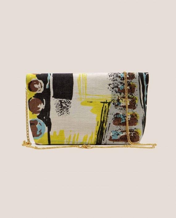 Parte atrás bolso único hecho en tela vintage, Doris Lane (ref # DMT-20-45) de Petty Things