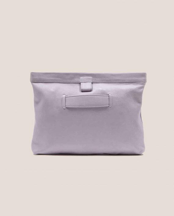 Parte atrás bolso de cuero lila modelo Marlen (ref # MPL-26) de Petty Things