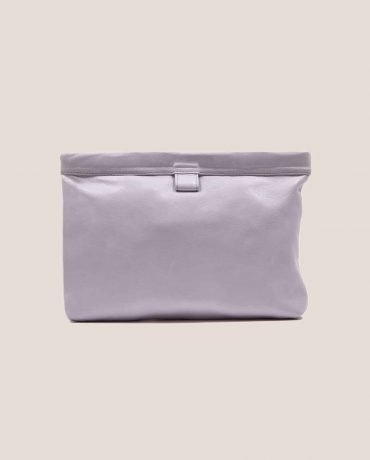 Petty Things Lilac Clutch leather handbag, model Marlen