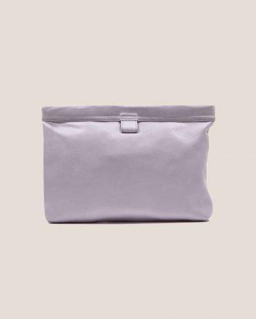 Petty Things Lilac Clutch leather handbag, model Marlen