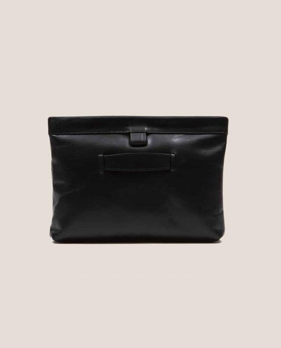 Clutch, handbag, Marlen black soft Napa (ref #MPN-28) Petty Things - back