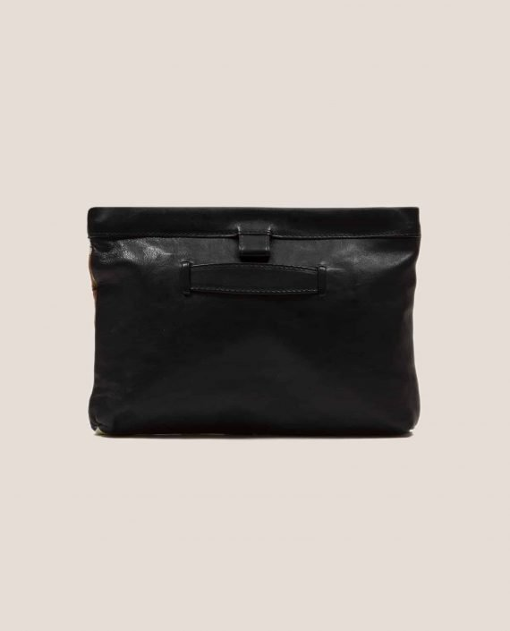 Black vegetable dyed leather back from handbag Chloe Peter (ref # MTPN-48-22) by Petty Things