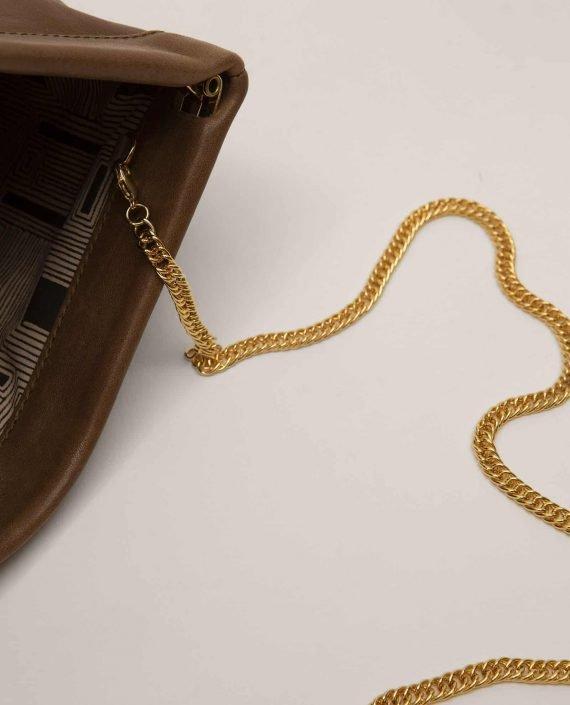 Clutch, handbag, Marlen Toupe (ref #MARPT-23-AW18) Petty Things - detail handle