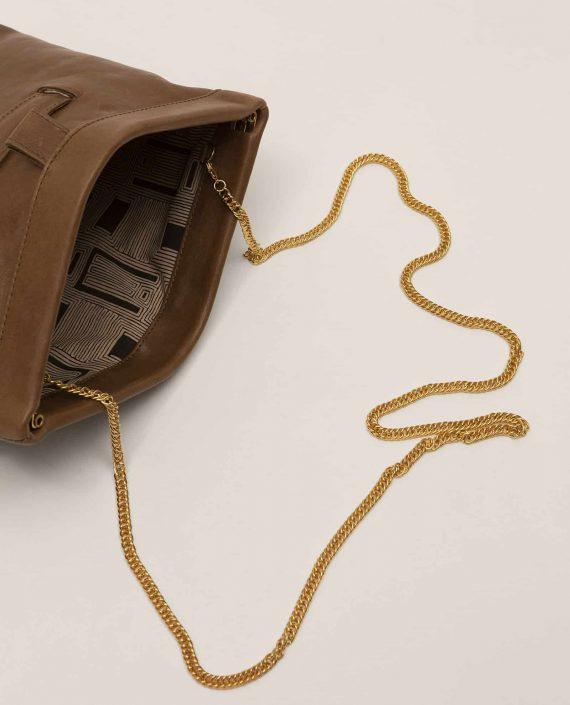Clutch, handbag, Marlen Toupe (ref #MARPT-23-AW18) Petty Things - handle