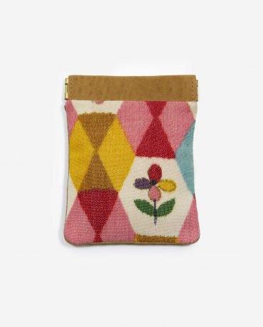 Monedero pequeño colorido HUMA de tela reciclada y piel vegetal - Petty things