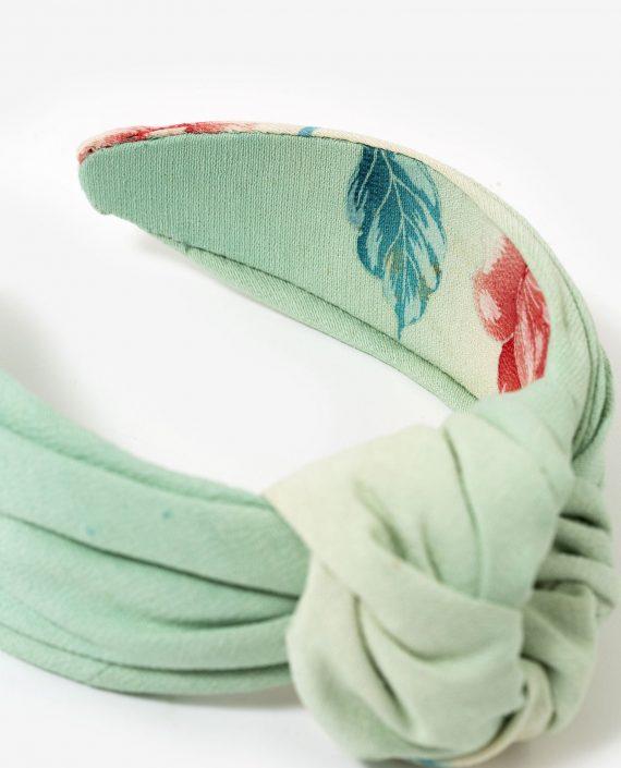 diadema de nudo Petite love para fiesta - detalle interior flor