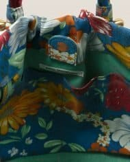 Interior view  bag made of vintage fabric for this summer by Petty Things (#NTFA-44)