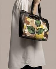 Model with big bag, Nina Peter Black (ref #  NTPN-48-02) by Petty Things