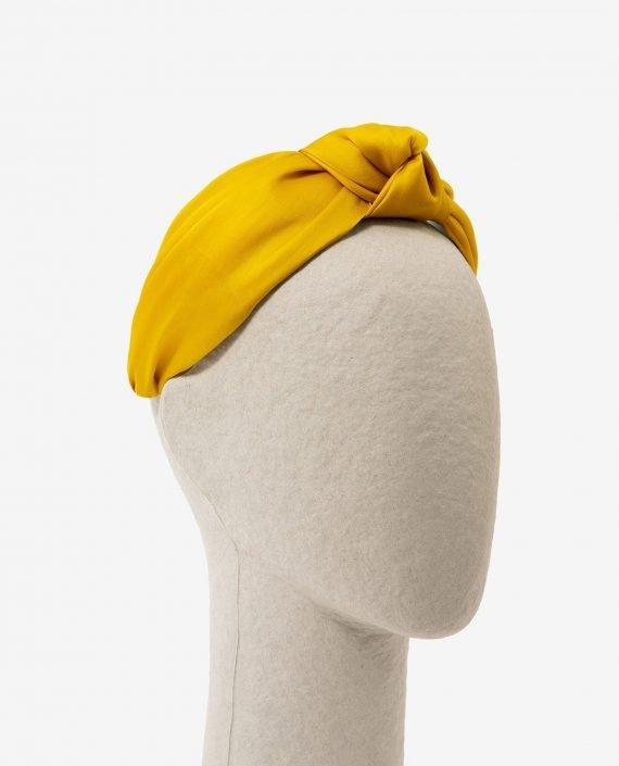 diadema de nudo amarilla Gavi para fiesta - lateral